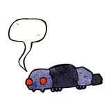 Cartoon insect with speech bubble Stock Photography