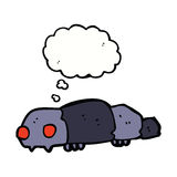 Cartoon insect with thought bubble Stock Photography