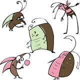 Cartoon insects Stock Photography