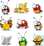 Cartoon insects Royalty Free Stock Image
