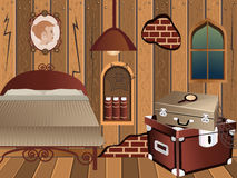 Cartoon interior - attic Stock Images