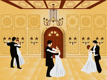 Cartoon interior - ballroom Stock Images