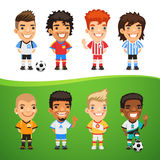 Cartoon International Soccer Players Set Royalty Free Stock Images
