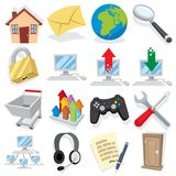 Cartoon Internet Icons Part 1 Stock Image