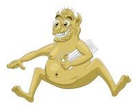 Cartoon internet troll Royalty Free Stock Images