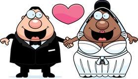 Cartoon Interracial Marriage Stock Photo