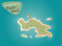 Cartoon island Stock Image
