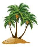 Cartoon Island With Palms Royalty Free Stock Photography