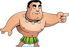 Cartoon Islander Angry Royalty Free Stock Photos