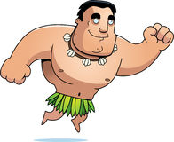 Cartoon Islander Jumping Royalty Free Stock Images