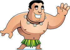 Cartoon Islander Waving Royalty Free Stock Photography