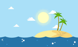 Cartoon islands landscape collection stock Royalty Free Stock Image