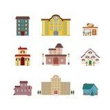 Cartoon isolated buildings Stock Photos