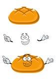 Cartoon isolated fresh wheat bread character Royalty Free Stock Photo