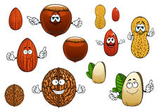 Cartoon isolated funny nuts characters Royalty Free Stock Photo