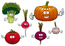 Cartoon isolated funny vegetable characters Royalty Free Stock Photography