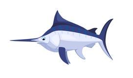 Cartoon isolated marlin Stock Photo