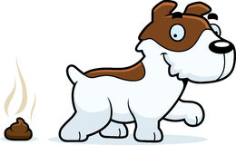 Cartoon Jack Russell Terrier Poop Royalty Free Stock Images