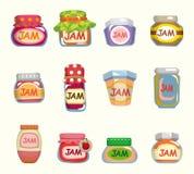 Cartoon jam card Royalty Free Stock Photo