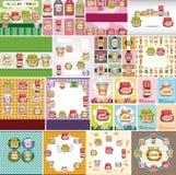 Cartoon jam card Stock Photos