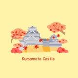Cartoon japan kumamoto castle Royalty Free Stock Images