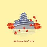Cartoon japan matsumoto castle Royalty Free Stock Photography