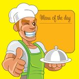 Cartoon Japanese chef royalty free stock photo