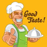 Cartoon Japanese chef Stock Photo