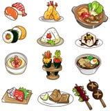 Cartoon Japanese Food Icon Royalty Free Stock Photos