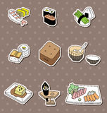 Cartoon Japanese food stickers royalty free illustration