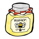 cartoon jar of honey Stock Photography