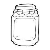 Cartoon jar of jam Stock Photos