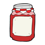 cartoon jar of jam Royalty Free Stock Photo