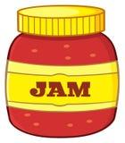 Cartoon Jar With Jam Stock Images
