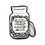cartoon jar of pills Stock Photo