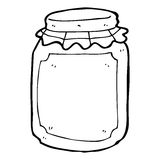 Cartoon jar of preserve Royalty Free Stock Images