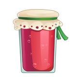 Cartoon jar of red jam Royalty Free Stock Photography