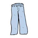 cartoon jeans Royalty Free Stock Photography