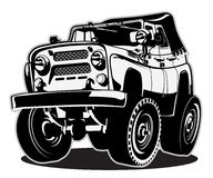 Cartoon jeep Royalty Free Stock Photo