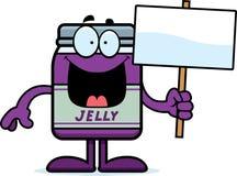 Cartoon Jelly Jar Sign Stock Photo