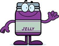 Cartoon Jelly Jar Waving Royalty Free Stock Photo