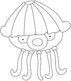 Cartoon Jellyfish Royalty Free Stock Photo