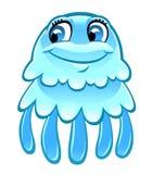 Cartoon jellyfish Royalty Free Stock Photo