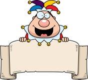 Cartoon Jester Banner Stock Image