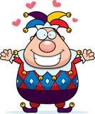 Cartoon Jester Hug. A cartoon jester ready to give a hug Stock Photos