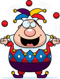 Cartoon Jester Juggling. A cartoon jester juggling and smiling Royalty Free Stock Images