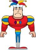 Cartoon Sad Jester. A cartoon jester looking sad vector illustration