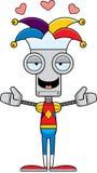 Cartoon Jester Robot Hug Stock Image