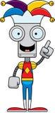 Cartoon Jester Robot Idea Royalty Free Stock Images