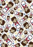 Cartoon Jesus Christ Pattern Royalty Free Stock Photography